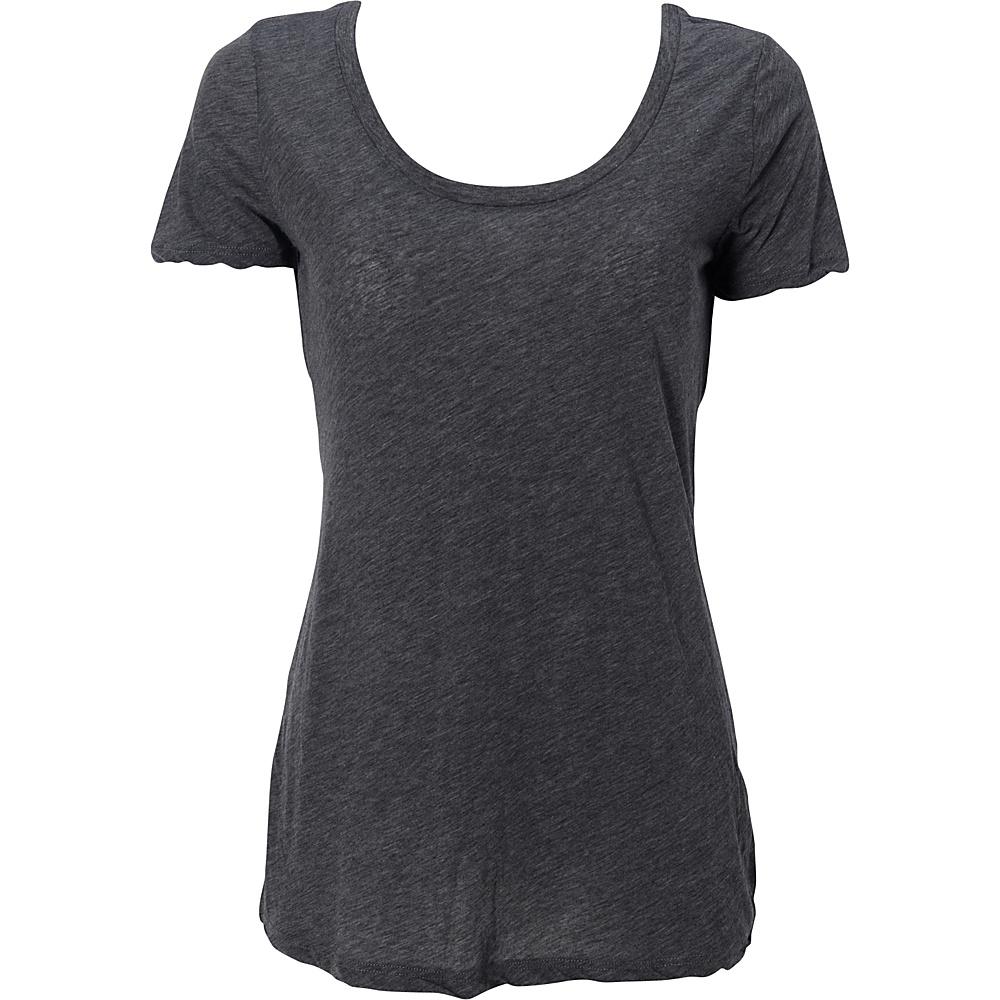 Simplex Apparel Boutique Womens Scoop Tee XS - Charcoal Grey - Simplex Apparel Womens Apparel - Apparel & Footwear, Women's Apparel