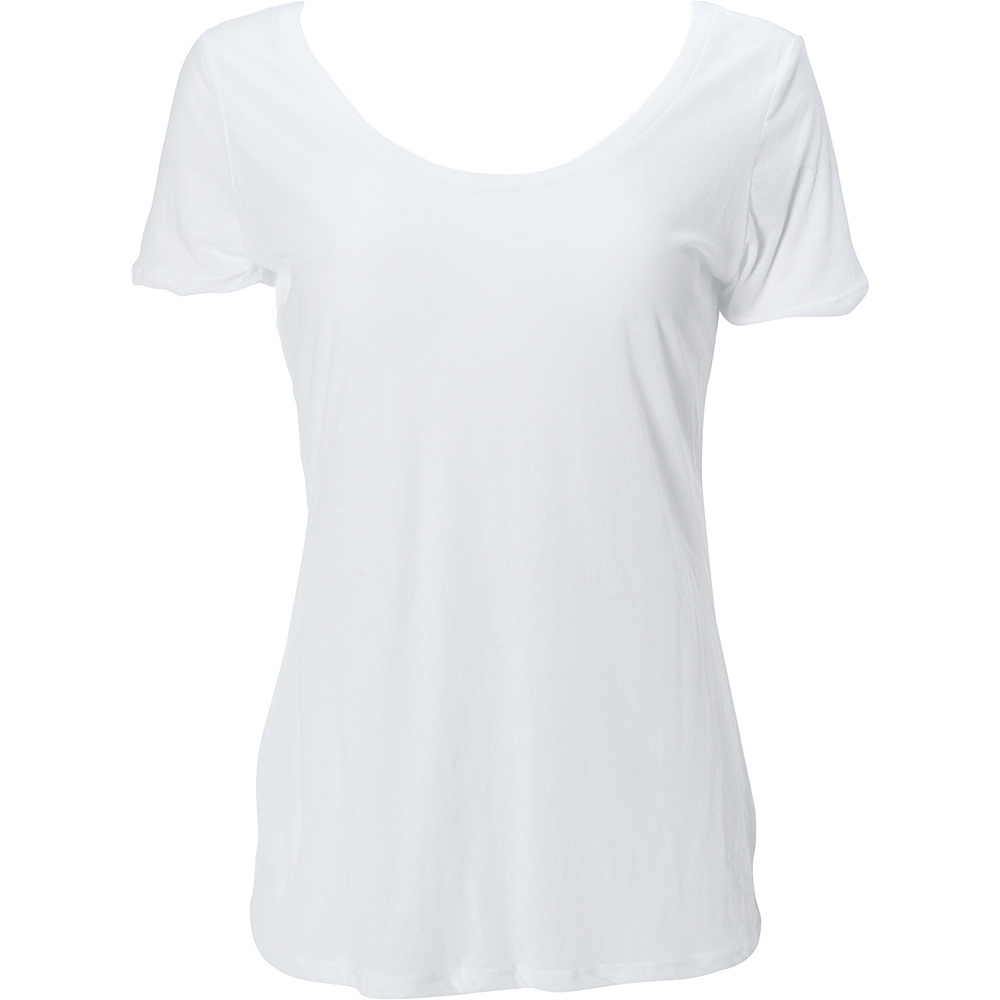 Simplex Apparel Boutique Womens Scoop Tee XL - White - Simplex Apparel Womens Apparel - Apparel & Footwear, Women's Apparel