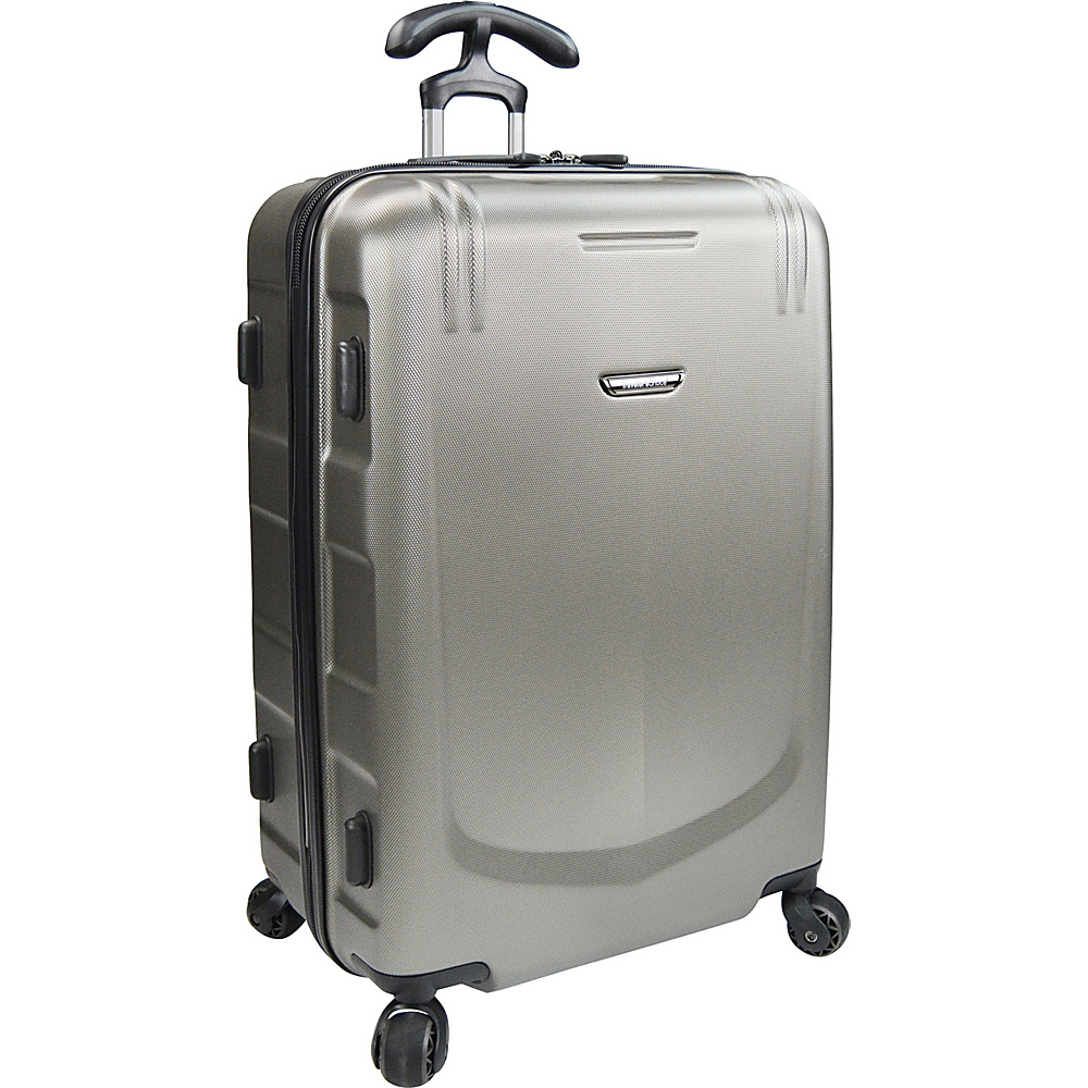 Traveler s Choice Palencia 25 Spinner Luggage Pewter Traveler s Choice Softside Checked