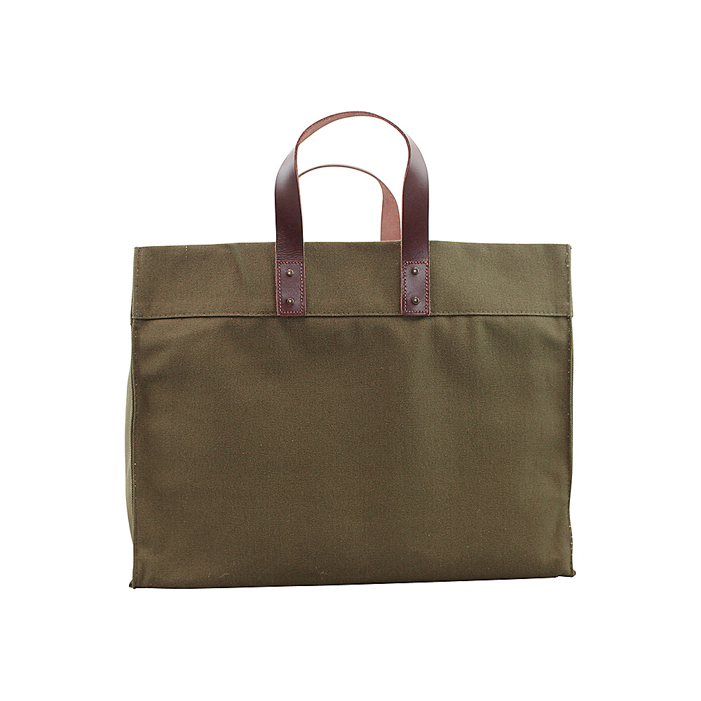 CB Station Advantage Utility Tote Olive Green - CB Station Fabric Handbags