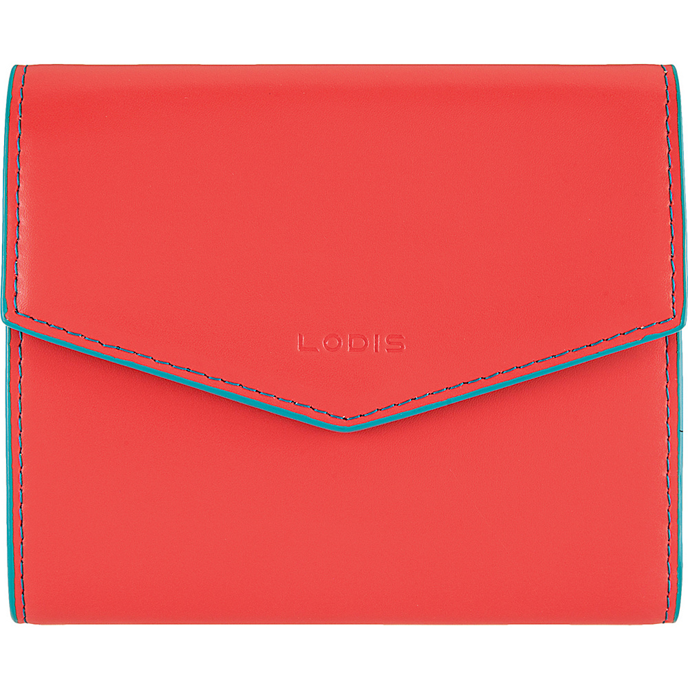 Lodis Audrey Lana French Purse Coral/Turquoise - Lodis Womens Wallets - Women's SLG, Women's Wallets