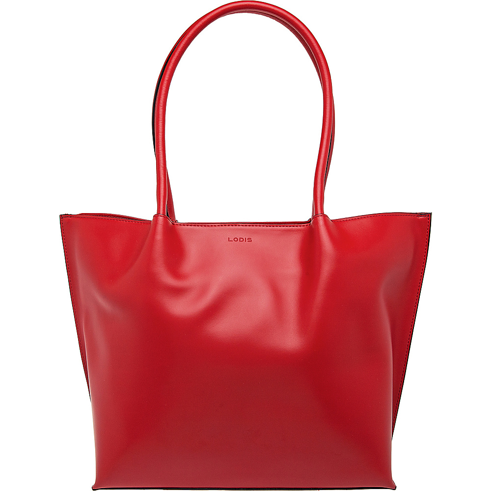 Lodis Audrey Ebony Tote Red - Lodis Leather Handbags - Handbags, Leather Handbags