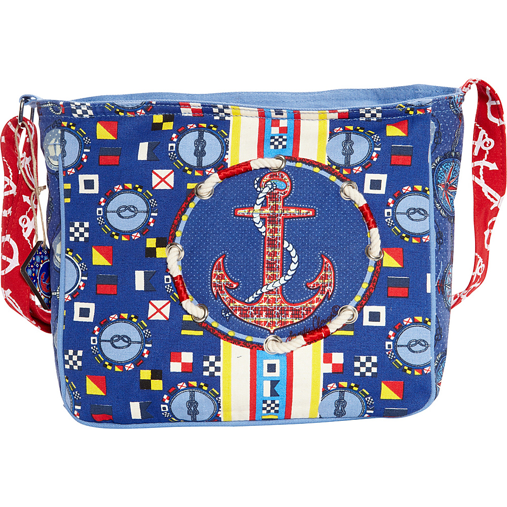 Sun N Sand Nautical Navigation Crossbody Nautical Navigation - Sun N Sand Fabric Handbags - Handbags, Fabric Handbags