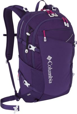 Columbia Sportswear Columbia Sportswear Celilo Daypack Deep Purple - Columbia Sportswear Day Hiking Backpacks
