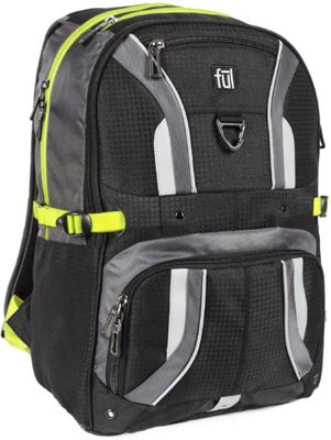 ful Momentor Tx1 Laptop Backpack Black/Grey - ful Business & Laptop Backpacks