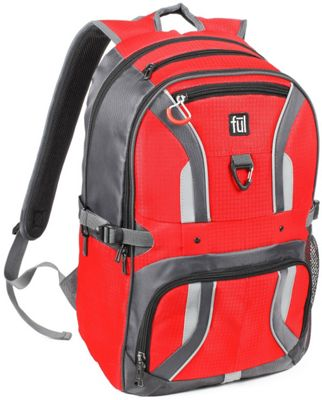 ful Momentor Tx1 Laptop Backpack Red - ful Business & Laptop Backpacks