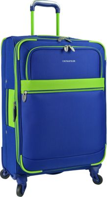 U.S. Traveler Alamosa 27 inch Expandable Spinner Royal Blue - U.S. Traveler Softside Checked