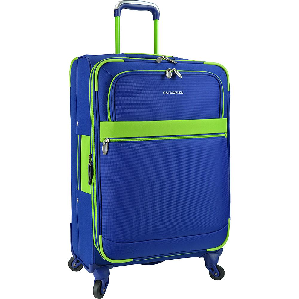 U.S. Traveler Alamosa 27 Expandable Spinner Royal Blue U.S. Traveler Softside Checked
