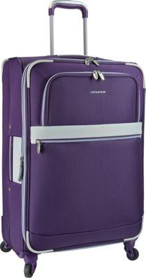 U.S. Traveler Alamosa 27 inch Expandable Spinner Purple - U.S. Traveler Softside Checked