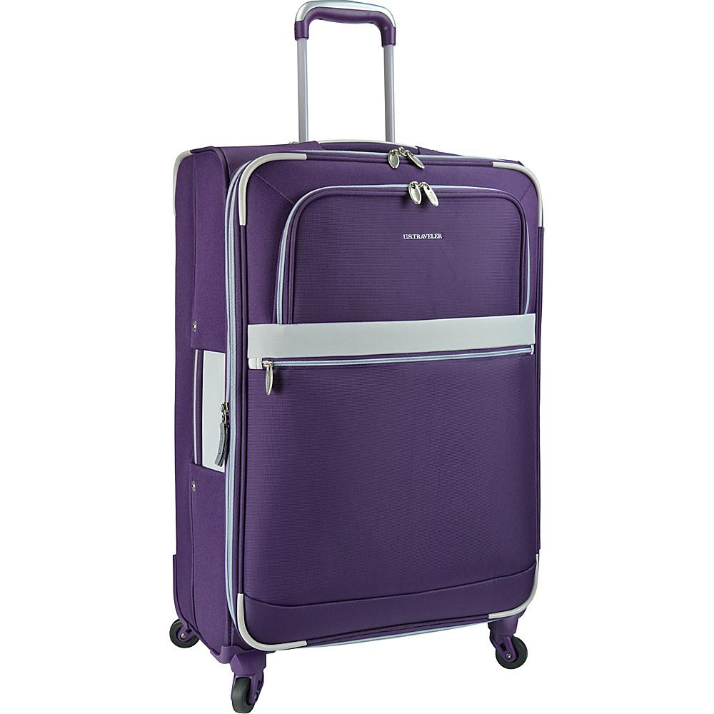 U.S. Traveler Alamosa 27 Expandable Spinner Purple U.S. Traveler Softside Checked