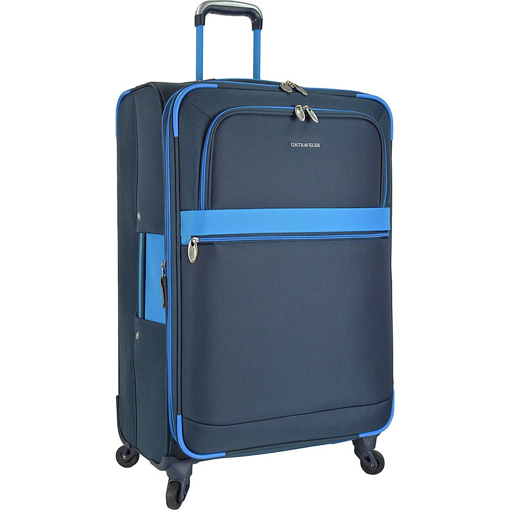 U.S. Traveler Alamosa 27 Expandable Spinner Blue U.S. Traveler Softside Checked