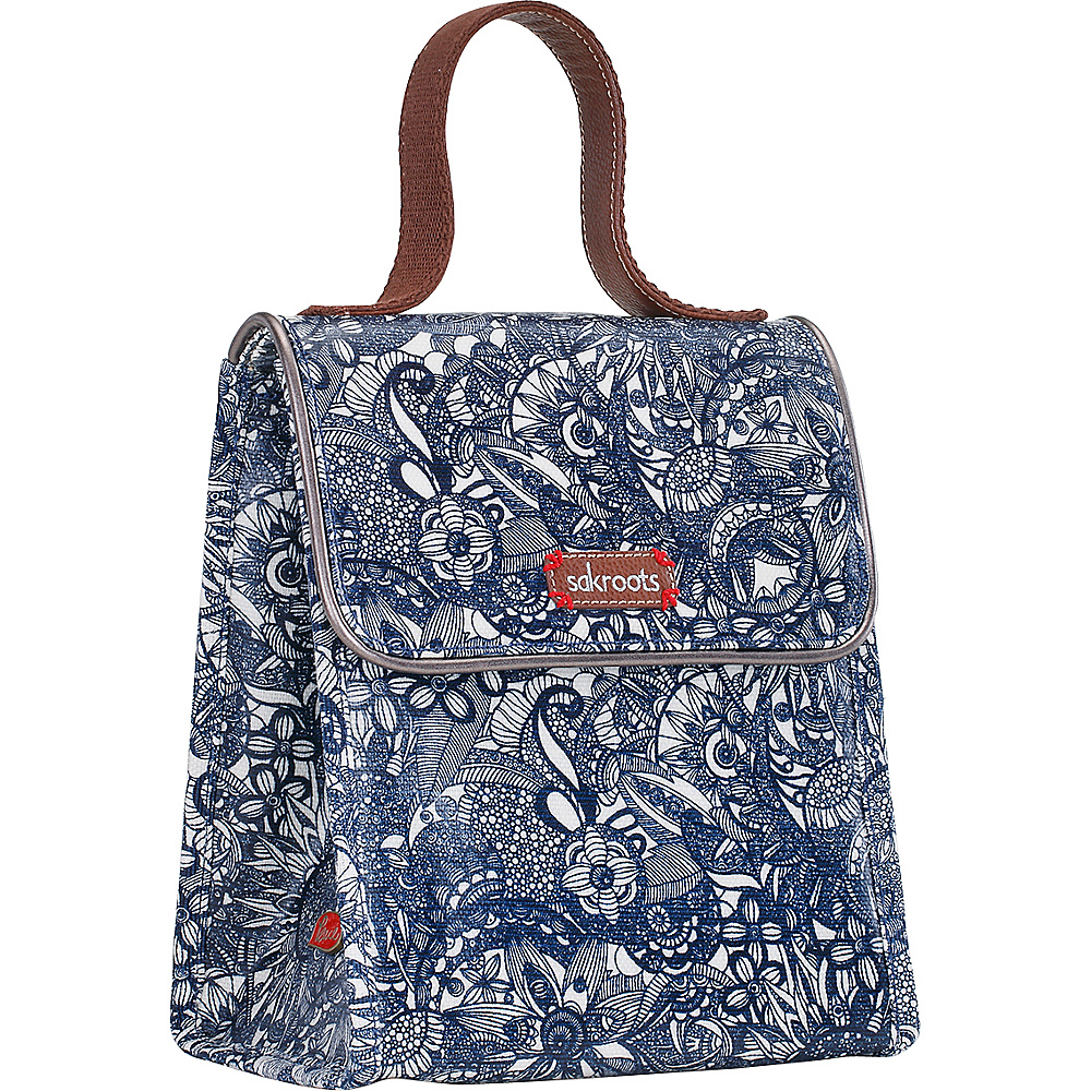 Sakroots Artist Circle Flap Lunch Box Navy Spirit Desert - Sakroots Travel Coolers - Travel Accessories, Travel Coolers