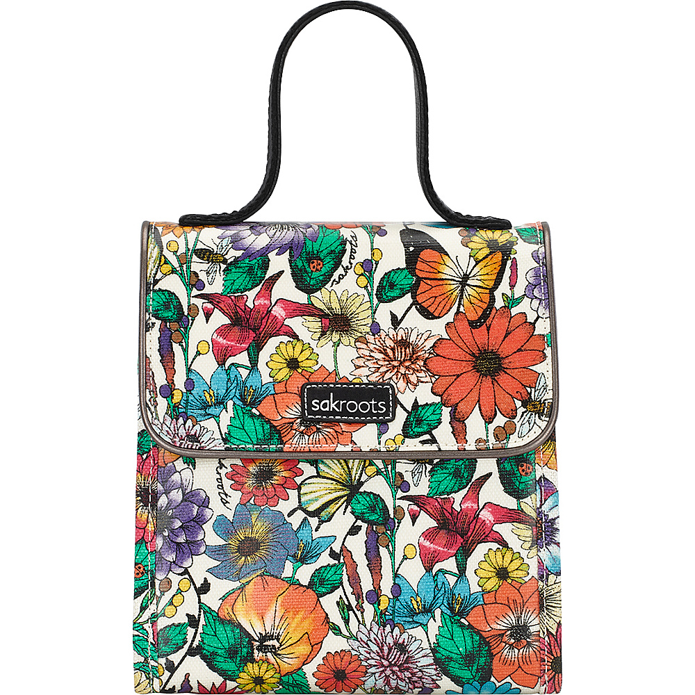 Sakroots Artist Circle Flap Lunch Box Optic In Bloom - Sakroots Travel Coolers - Travel Accessories, Travel Coolers