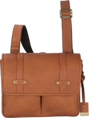 Bugatti Perreira Leather Messenger Bag Cognac - Bugatti Messenger Bags