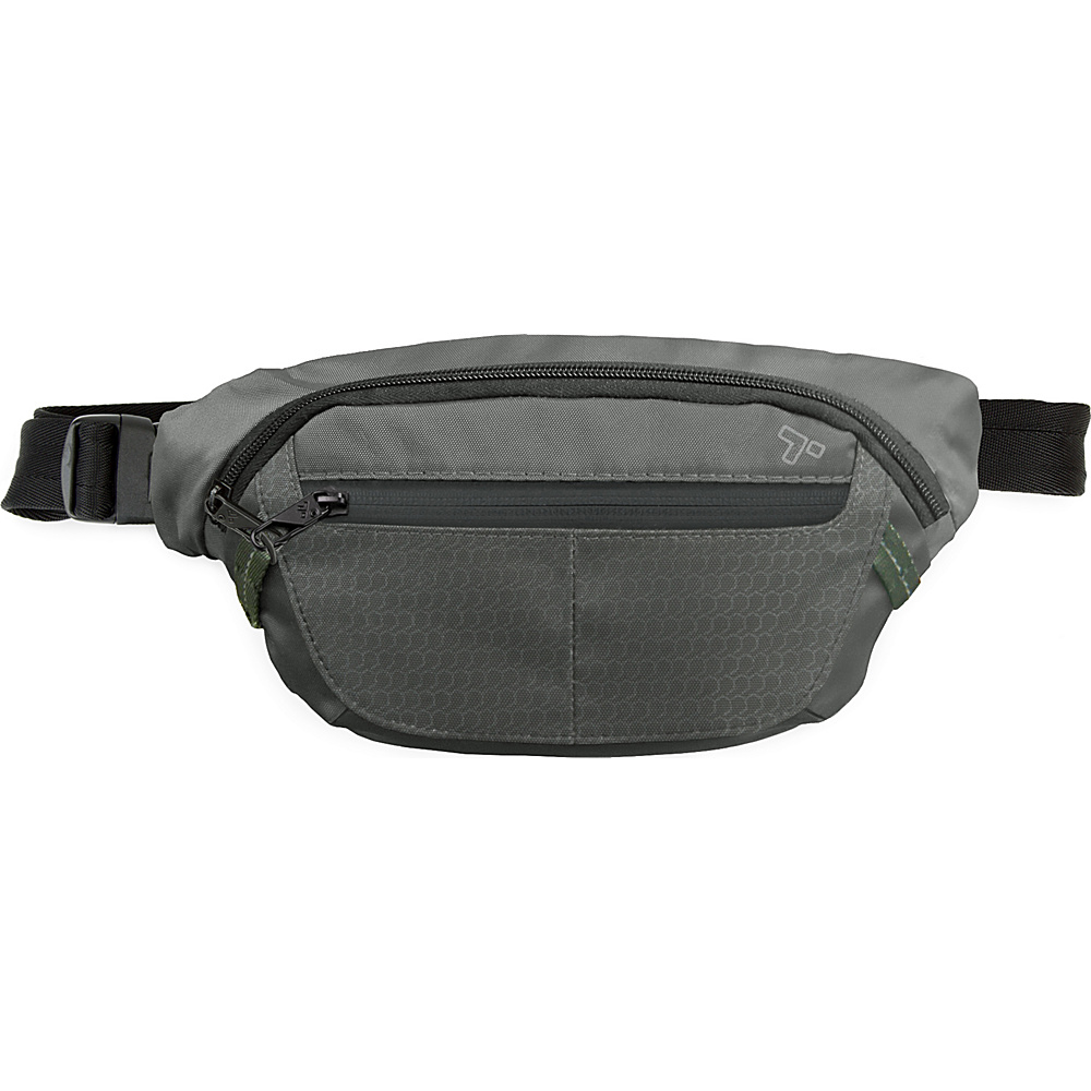 Travelon Anti-Theft Active Waist Pack Charcoal - Travelon Waist Packs - Backpacks, Waist Packs
