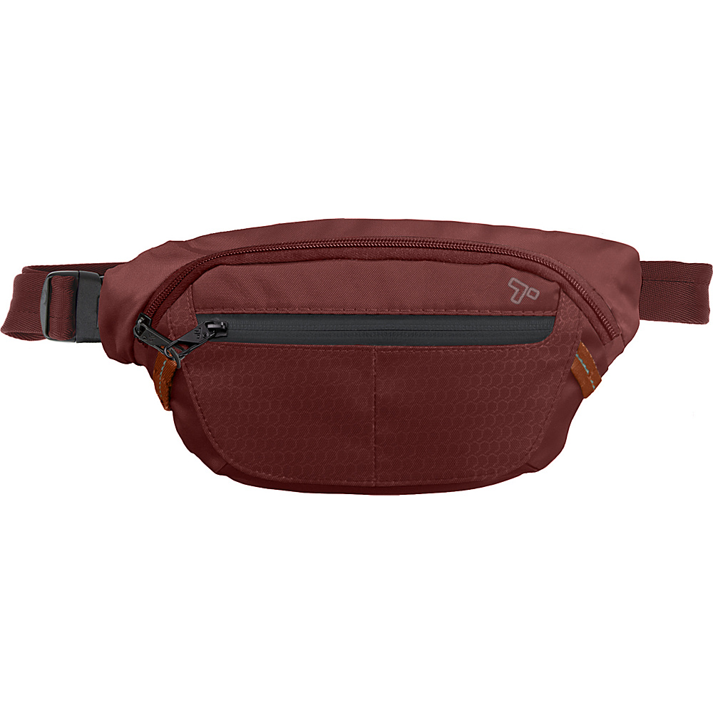 Travelon Anti-Theft Active Waist Pack Wine - Travelon Waist Packs - Backpacks, Waist Packs