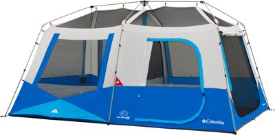 Columbia Sportswear Fall River 10 Person Instant Dome Tent Compass Blue - Columbia Sportswear Outdoor Accessories