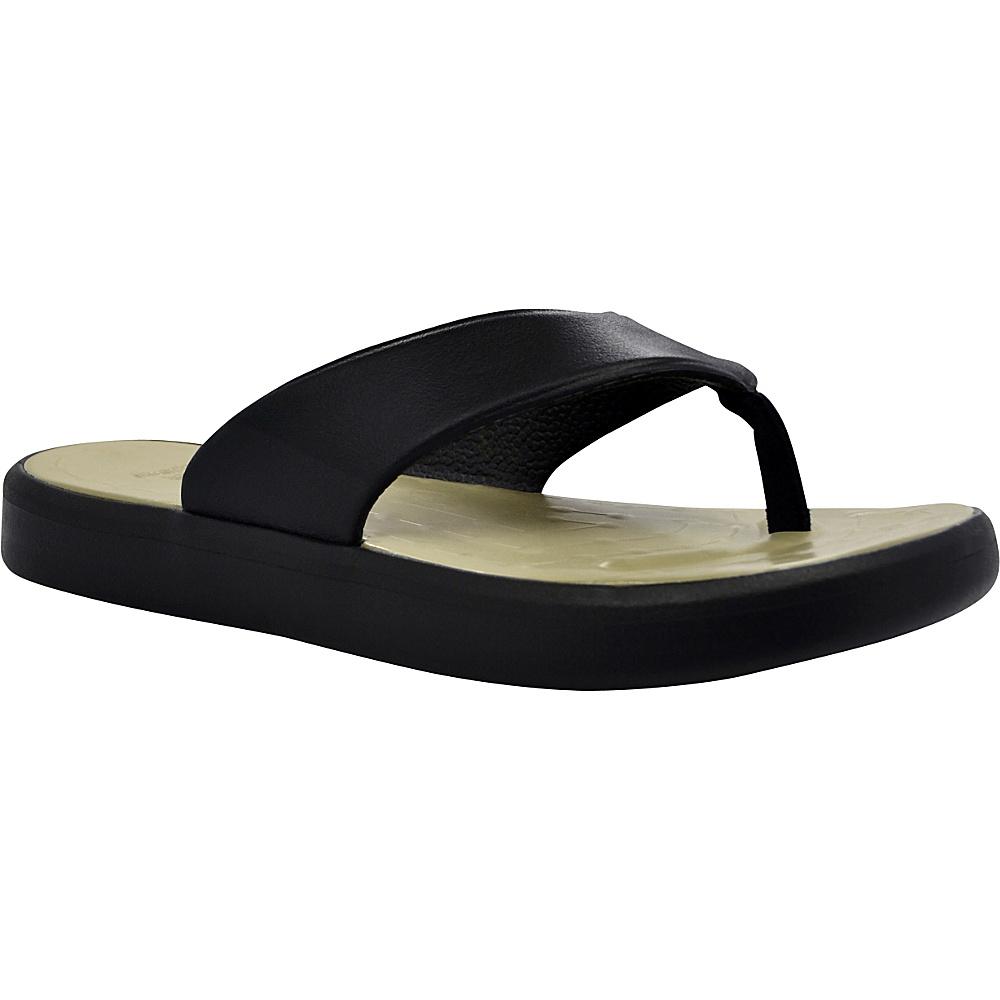 SoftScience Unisex Skiff Flip Flop Men s 4 Women s 6 Black Khaki SoftScience Men s Footwear