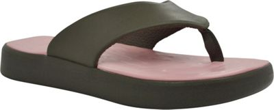 SoftScience Unisex Skiff Flip Flop Men's 9/Women's 11 - Charcoal/Light Pink - SoftScience Men's Footwear