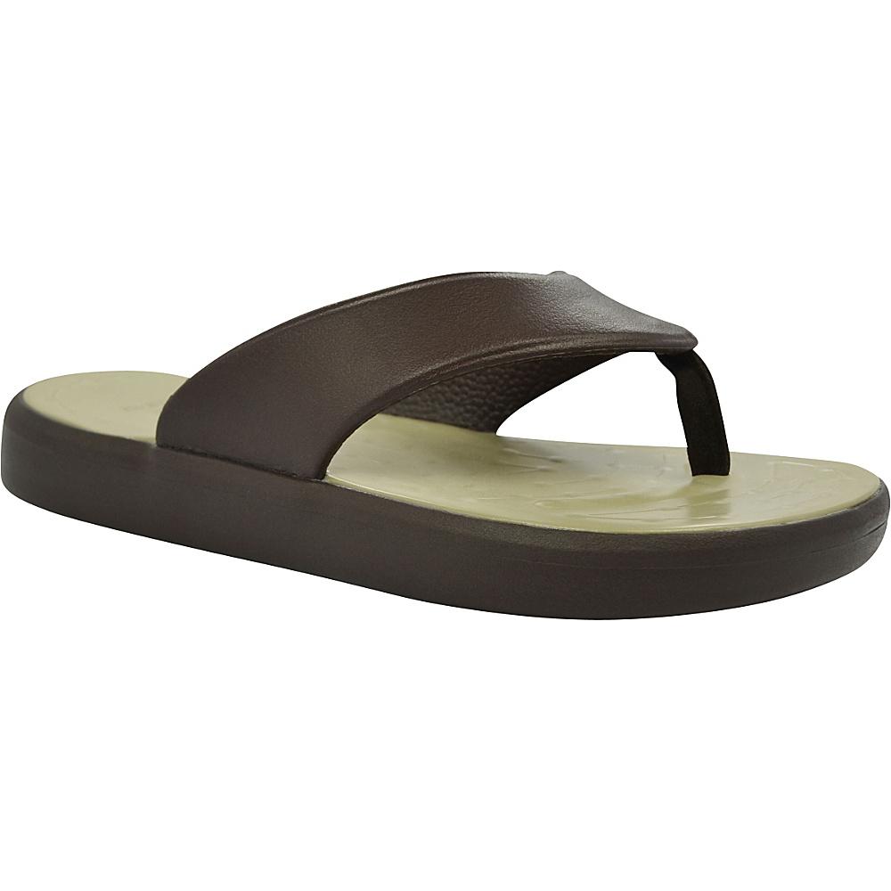 SoftScience Unisex Skiff Flip Flop Men s 7 Women s 9 Chocolate Khaki SoftScience Men s Footwear