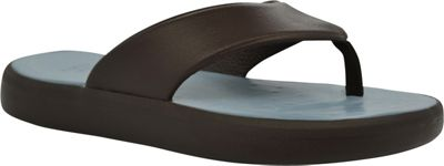 SoftScience SoftScience Unisex Skiff Flip Flop Men's 13/Women's 15 - Chocolate/Light Blue - SoftScience Men's Footwear