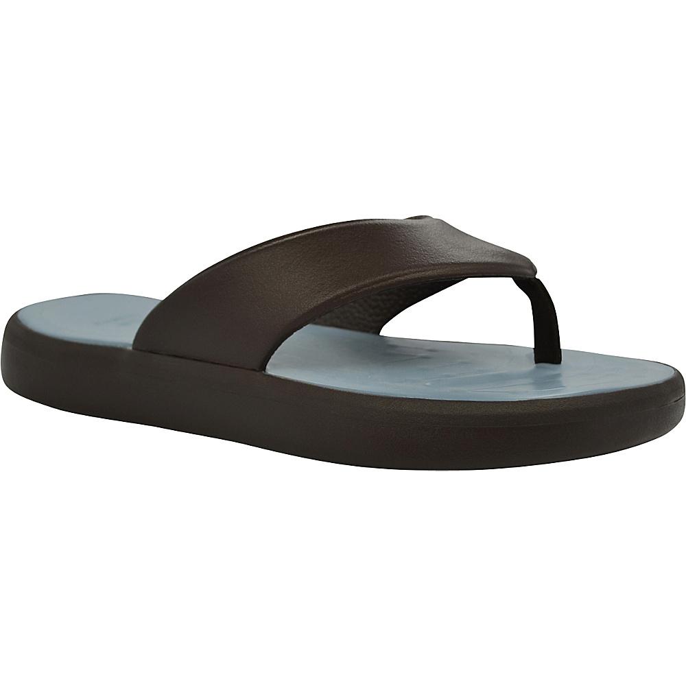 SoftScience Unisex Skiff Flip Flop Men s 4 Women s 6 Chocolate Light Blue SoftScience Men s Footwear