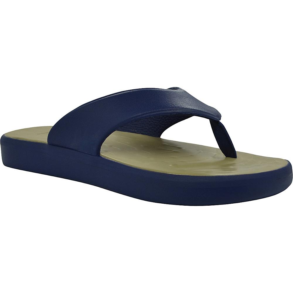SoftScience Unisex Skiff Flip Flop Men s 4 Women s 6 Dark Blue Khaki SoftScience Men s Footwear