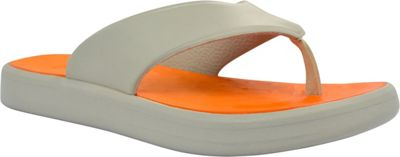 SoftScience Unisex Skiff Flip Flop Men's 11/Women's 13 - Light Gray/Orange - SoftScience Men's Footwear