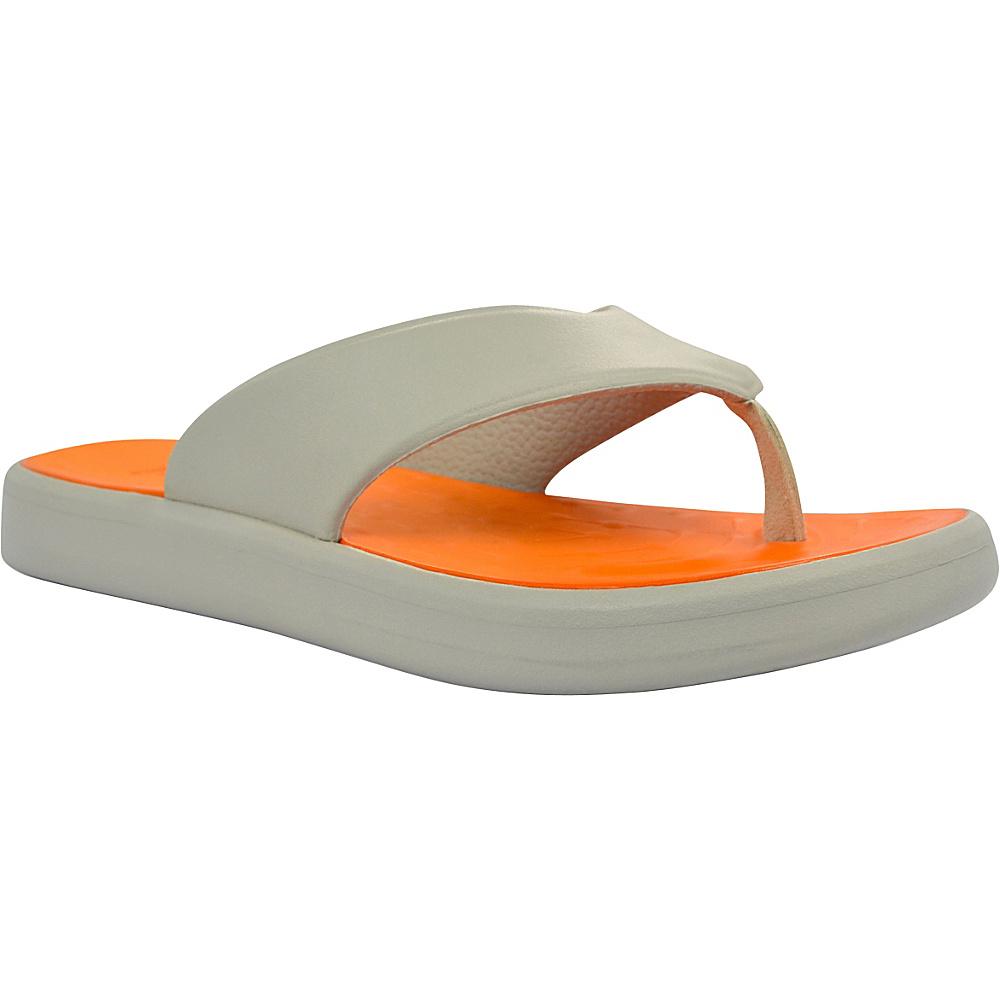 SoftScience Unisex Skiff Flip Flop Men s 5 Women s 7 Light Gray Orange SoftScience Men s Footwear