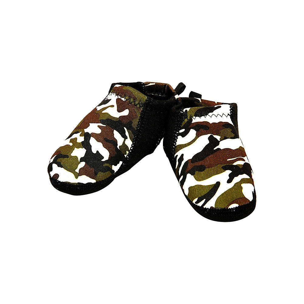 NuFoot Boys Travel Slippers Patterns Camo Black Stripe 0 6 months NuFoot Men s Footwear