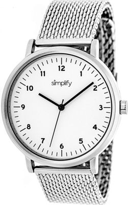 Simplify 3200 Unisex Watch Silver/White - Simplify Watches