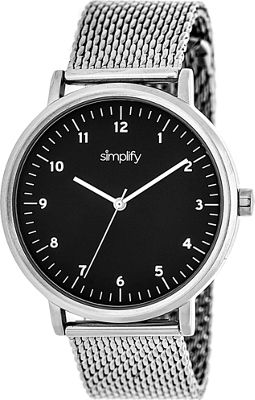Simplify 3200 Unisex Watch Silver/Black - Simplify Watches