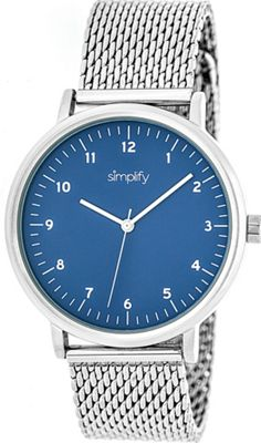 Simplify 3200 Unisex Watch Silver/Blue - Simplify Watches