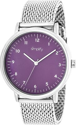 Simplify 3200 Unisex Watch Silver/Purple - Simplify Watches