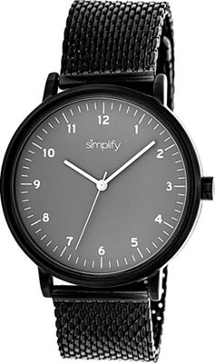 Simplify 3200 Unisex Watch Black/Grey - Simplify Watches