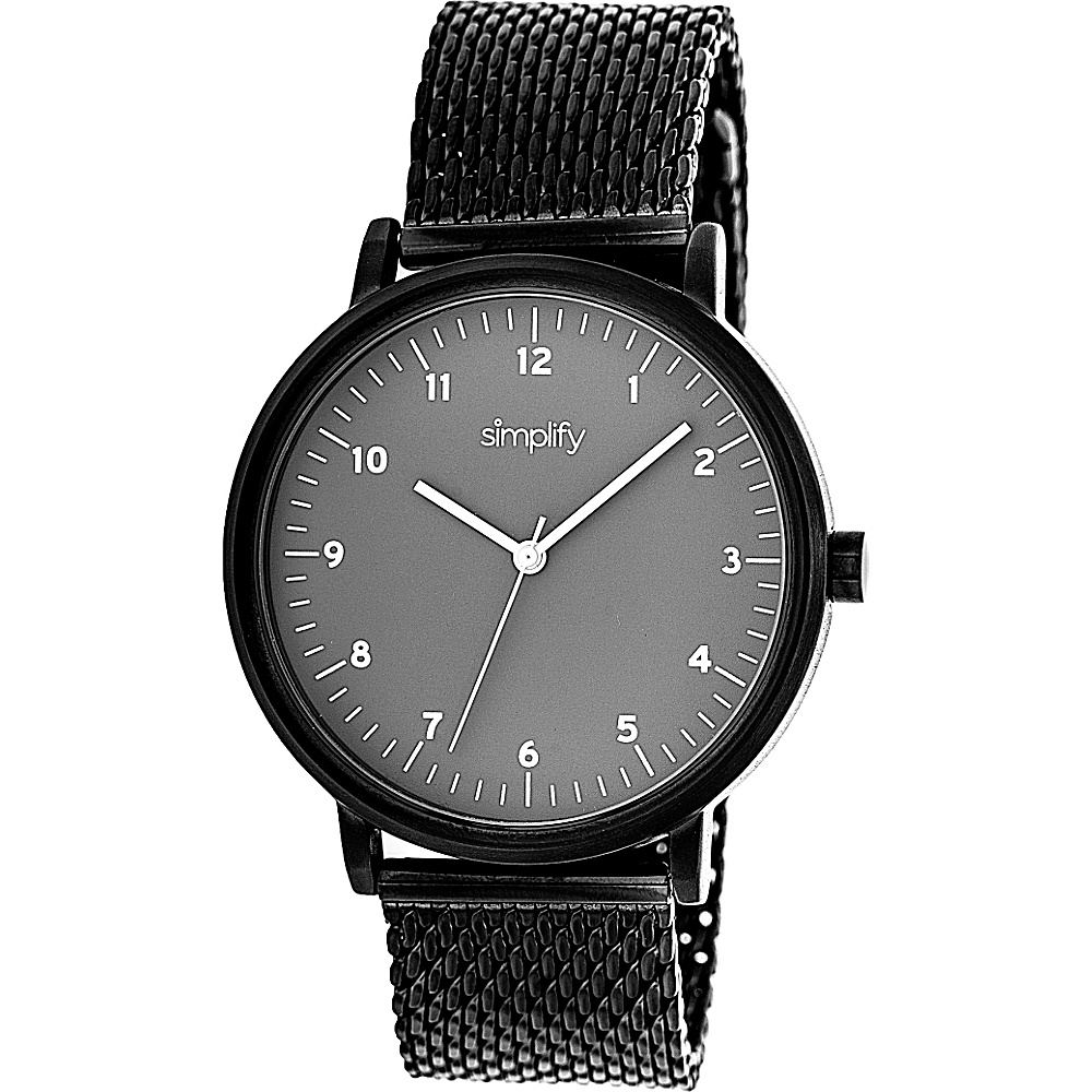 Simplify 3200 Unisex Watch Black Grey Simplify Watches