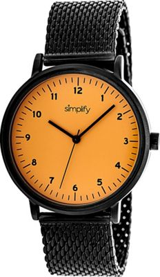 Simplify 3200 Unisex Watch Black/Orange - Simplify Watches