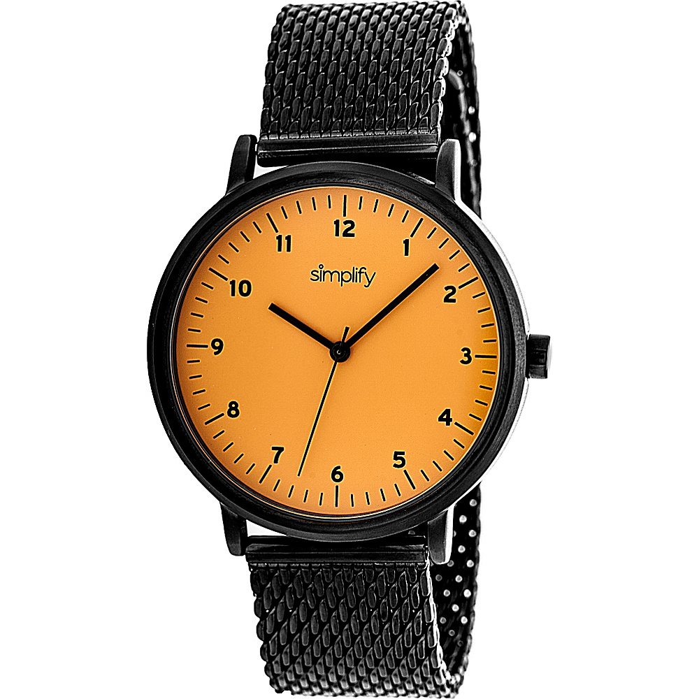 Simplify 3200 Unisex Watch Black Orange Simplify Watches