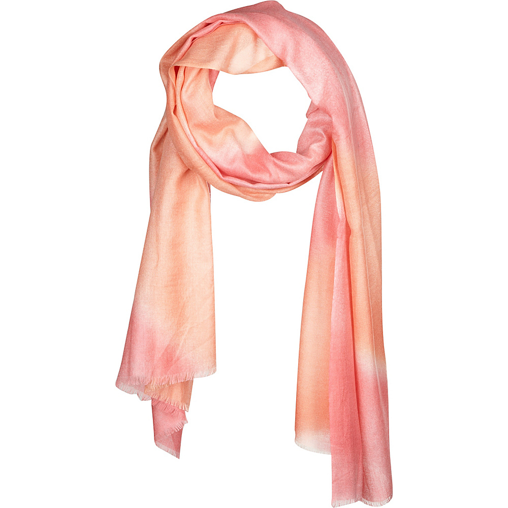 Kinross Cashmere Tie Dye Print Scarf Quince - Kinross Cashmere Hats/Gloves/Scarves - Fashion Accessories, Hats/Gloves/Scarves