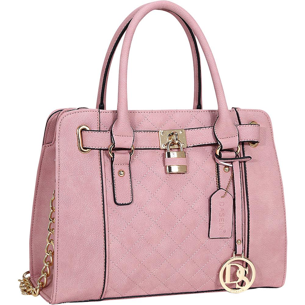 Dasein Medium Satchel with Shoulder Strap Light Pink - Dasein Manmade Handbags - Handbags, Manmade Handbags