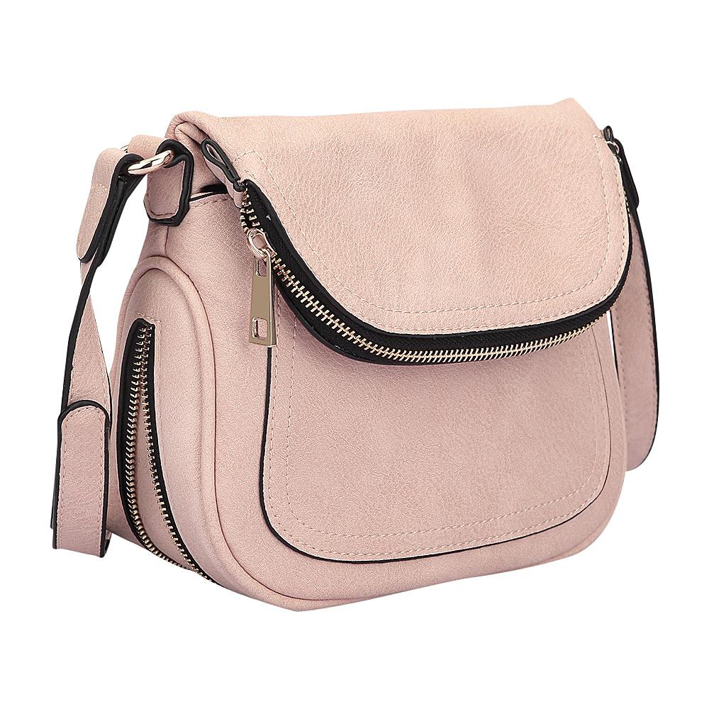 Dasein Front Flap Messenger Bag Light Pink - Dasein Manmade Handbags - Handbags, Manmade Handbags