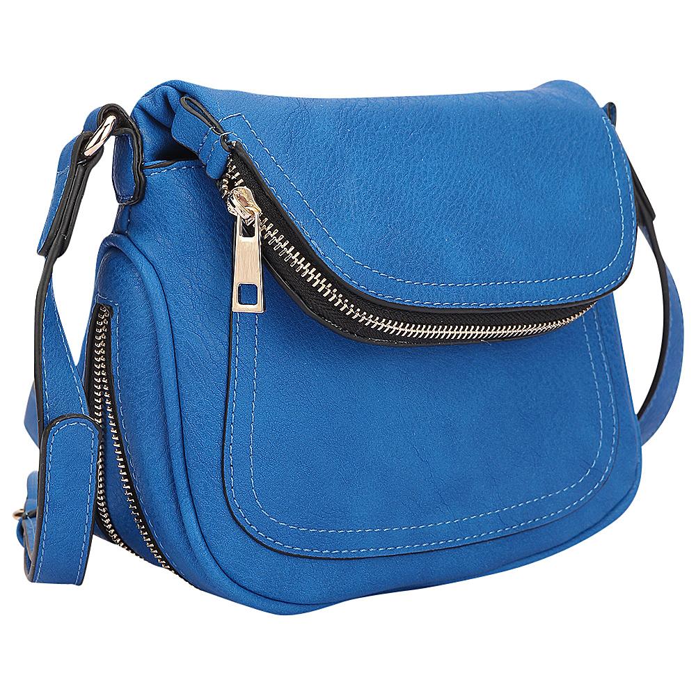 Dasein Front Flap Messenger Bag Royal Blue - Dasein Manmade Handbags - Handbags, Manmade Handbags
