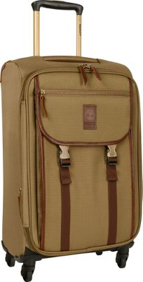 Timberland Reddington 21 inch Expandable Spinner Suitcase Military Olive - Timberland Softside Carry-On