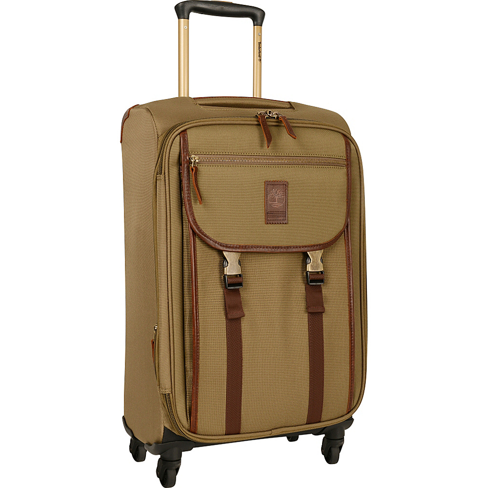 Timberland Reddington 21 Expandable Spinner Suitcase Military Olive Timberland Softside Carry On