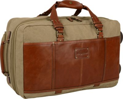 Tommy Bahama The Casual 21 inch Rolling Upright Khaki/Cognac - Tommy Bahama Softside Carry-On
