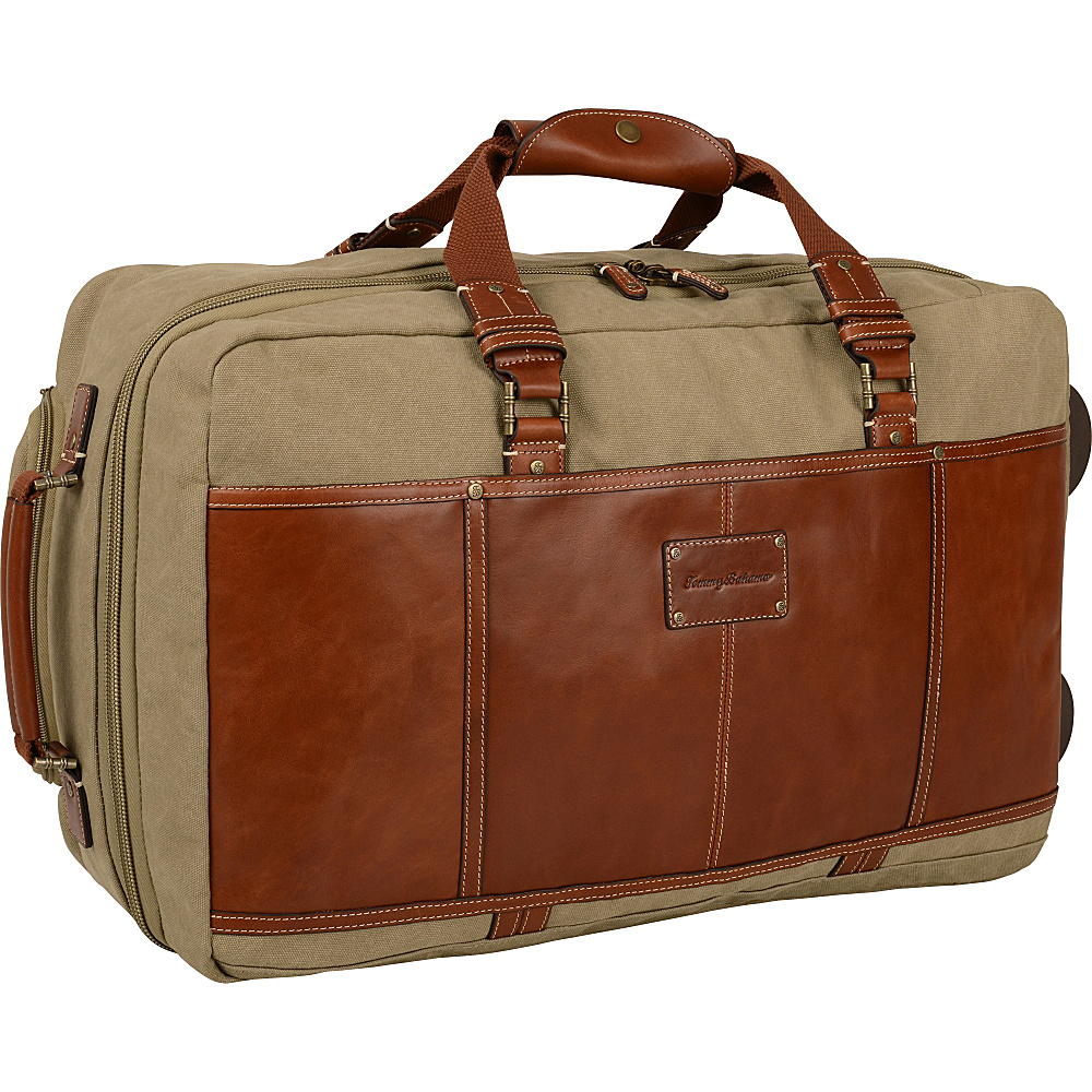 Tommy Bahama The Casual 21 Rolling Upright Khaki Cognac Tommy Bahama Softside Carry On