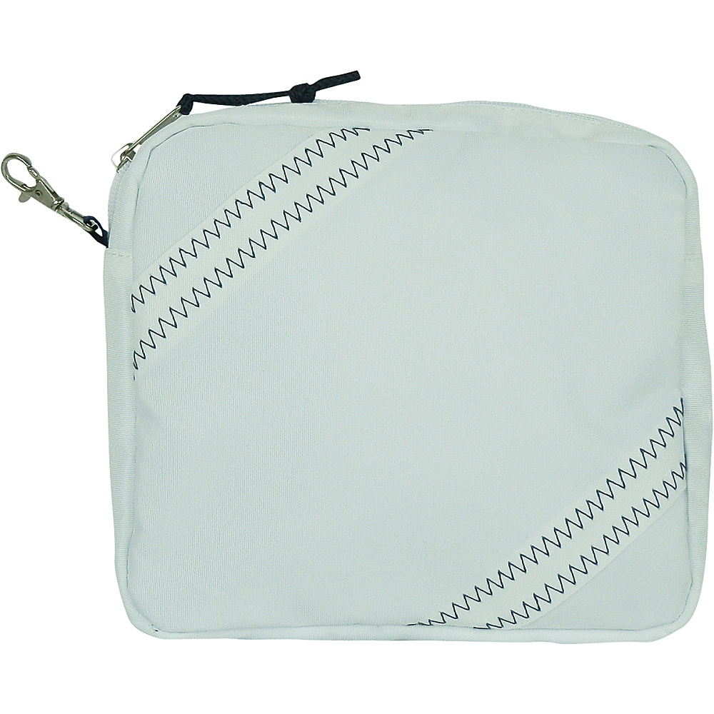 SailorBags Chesapeake Accessory Pouch White with Blue Trim SailorBags Travel Organizers