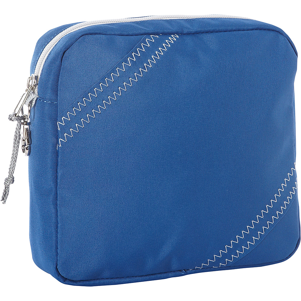 SailorBags Chesapeake Accessory Pouch Blue with Grey Trim SailorBags Travel Organizers