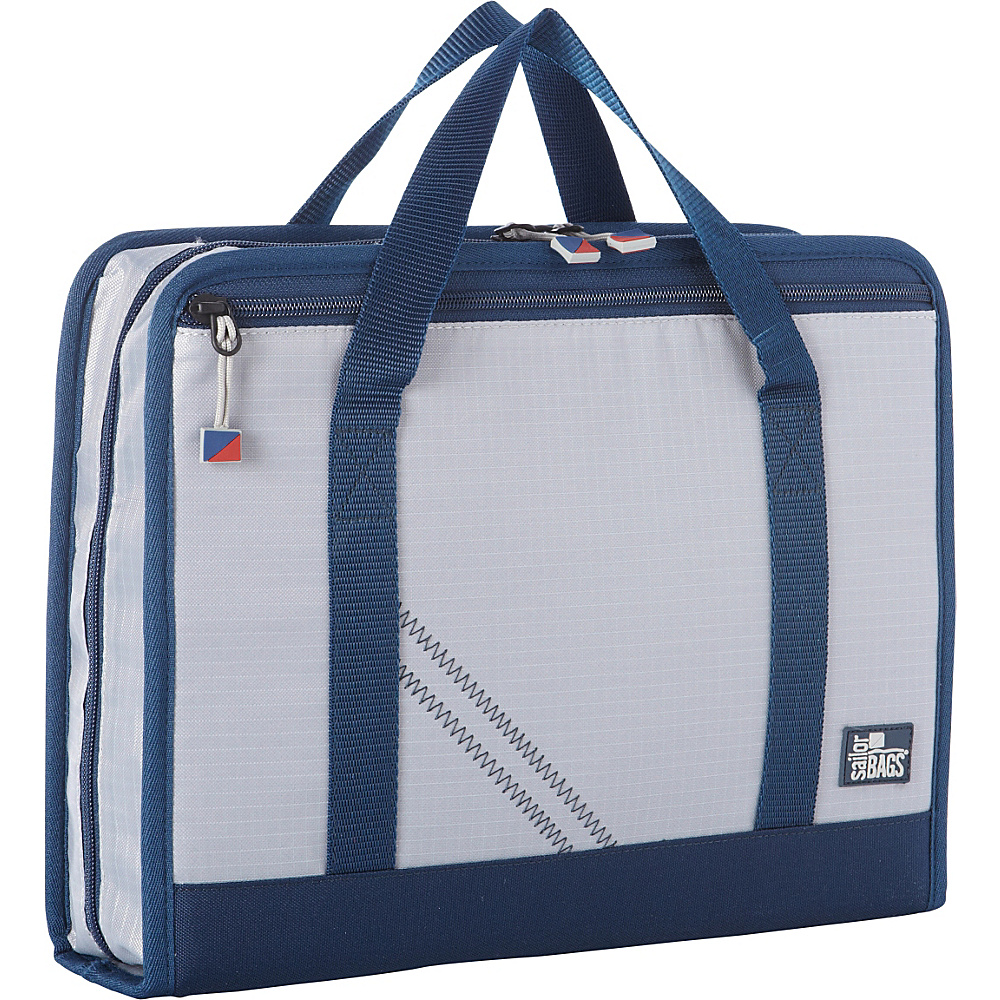 SailorBags Silver Spinnaker Utility Case Silver with Blue Trim SailorBags Travel Organizers