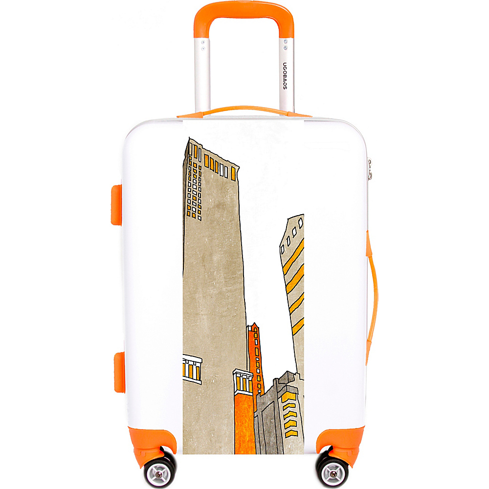 Ugo Bags Skyline By Irena Orlov 26.5 Luggage White Ugo Bags Hardside Checked